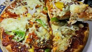 वेज पिज्जा रेसिपी हिंदी में-Veg pizza#Easy& Tasty
