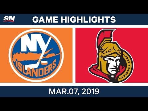 NHL Highlights | Islanders vs. Senators – Mar 7, 2019