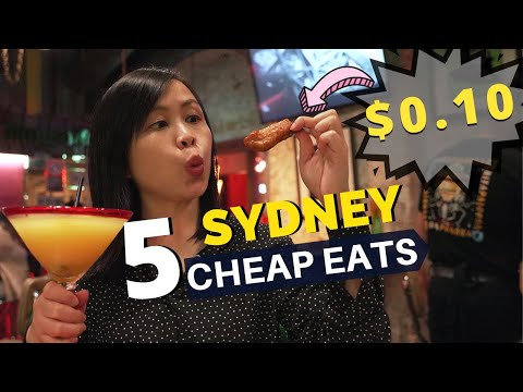5 SYDNEY CHEAP EATS Under $1(ish) 🤑 NIGHTLIFE Edition In Sydney City AUSTRALIA