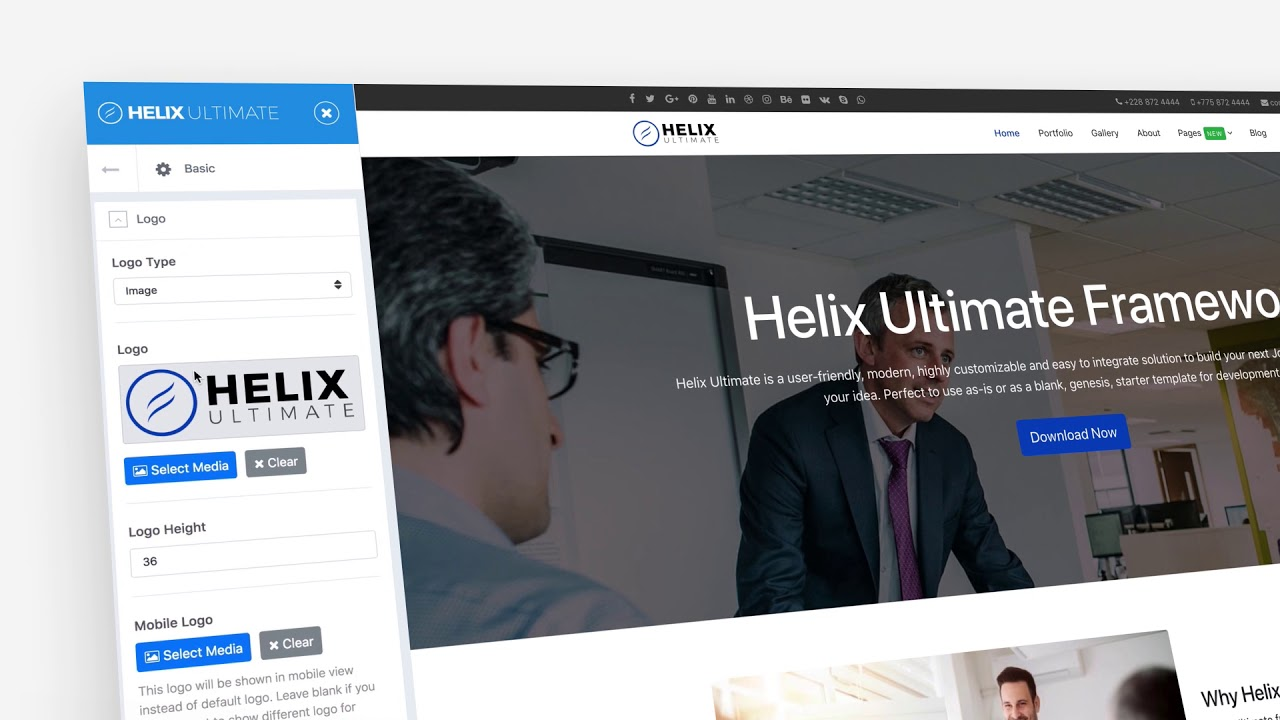 Helix Ultimate Free Joomla Template Framework For Any Website Youtube