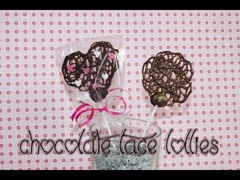 Last Minute Valentinstags Geschenke – Chocolate Lace Lollies selber machen
