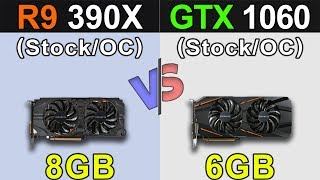 R9 390X Vs. GTX 1060 | Stock and Overclock | New Games Benchmarks