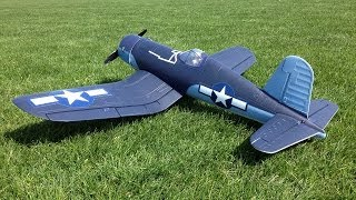 Parkzone F4U-1A Corsair Parkflyer WWII Warbird RC Plane at Grass Flying Field