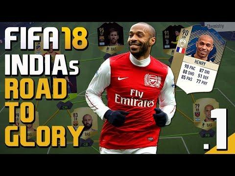 """FIFA 18 (Hindi) India's Road To Glory #1 - """"FUT ICON HENRY"""" (FUT 18 PS4 Pro)"""