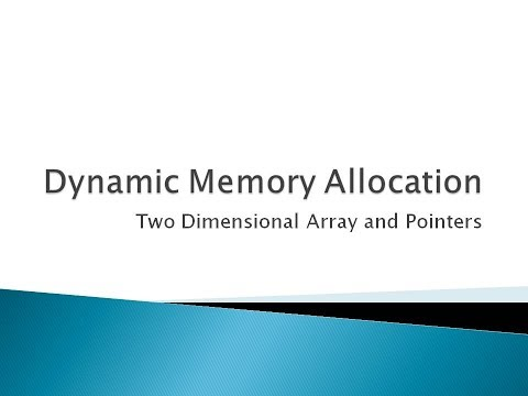 92 - Dynamic Memory Allocation For Two Dimensional Array In C Programming