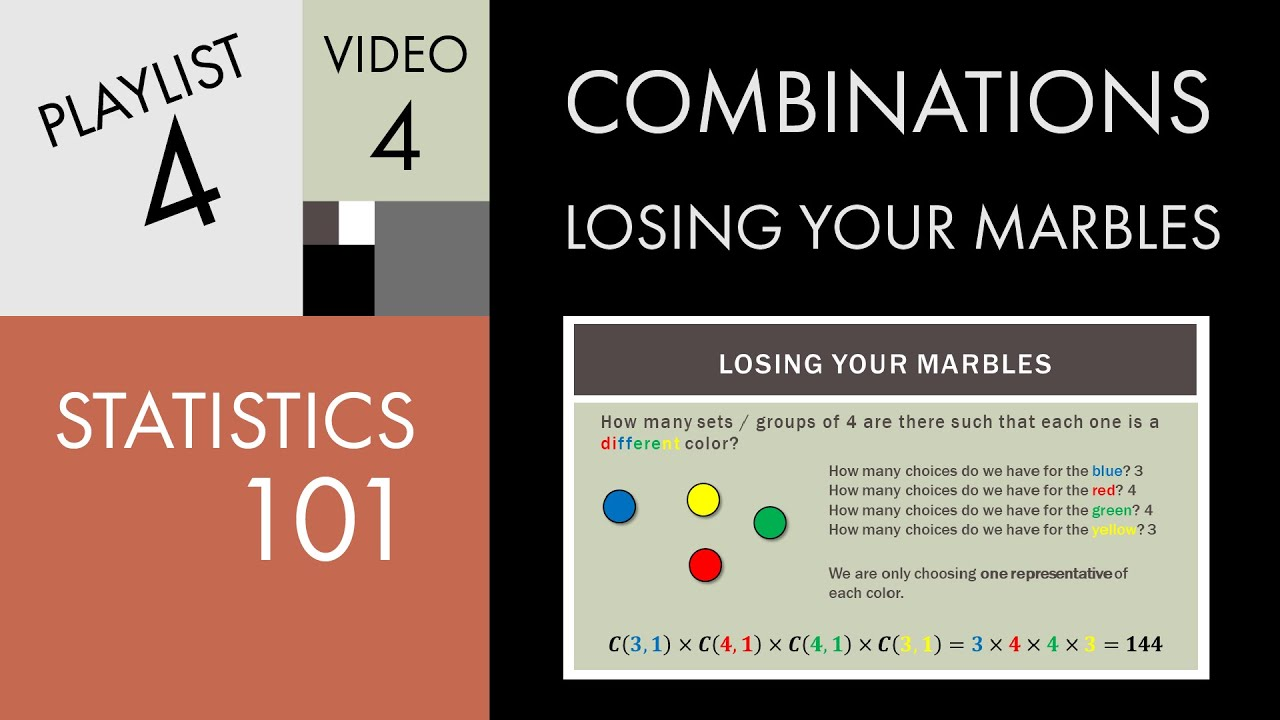 Combinations (worked solutions, examples, videos) on