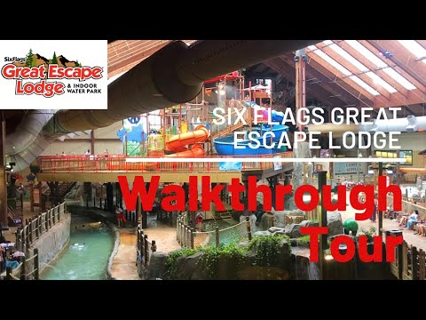 Six Flags Great Escape Lodge & Indoor Waterpark Walkthrough Tour,  Lake George NY