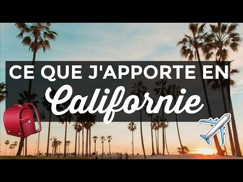 WHAT'S IN MY TRAVEL BAG : CE QUE J'APPORTE EN CALIFORNIE!