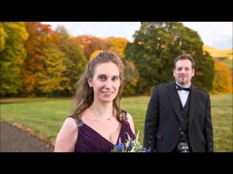 Autumn wedding at Cringletie House
