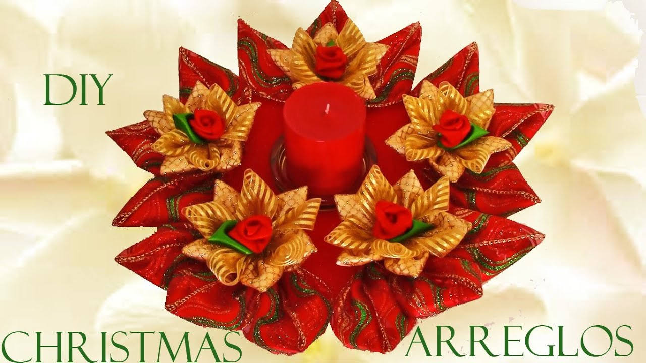 Diy arreglos de navidad christmas arrangements youtube for Arreglo para puertas de navidad