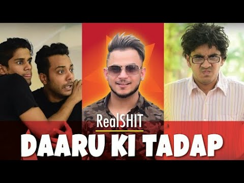 Millind Gaba With Real Shit Team ||  Haan Haan Hum Daaru Peete Hai || Watching This Very Funny Video
