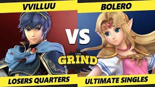 The Grind 136 Online Losers Quarters - Vvilluu (Marth) Vs. Bolero (Zelda) Smash Ultimate - SSBU