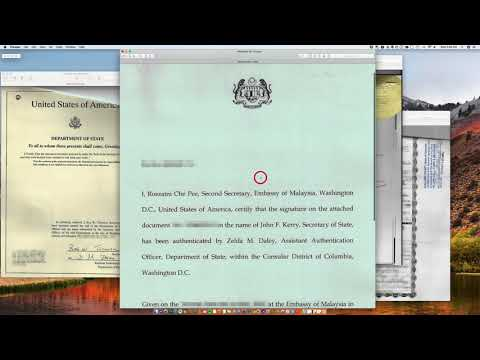 How to legalize a document at the Malaysian Embassy