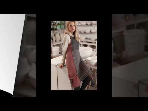 Вязание спицами теплого сарафана для женщин