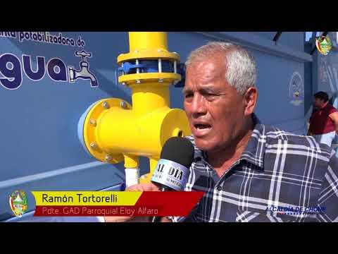 Eloy Alfaro contará con planta potabilizadora de agua