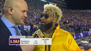 OBJ Comes to Tiger Stadium to Support LSU