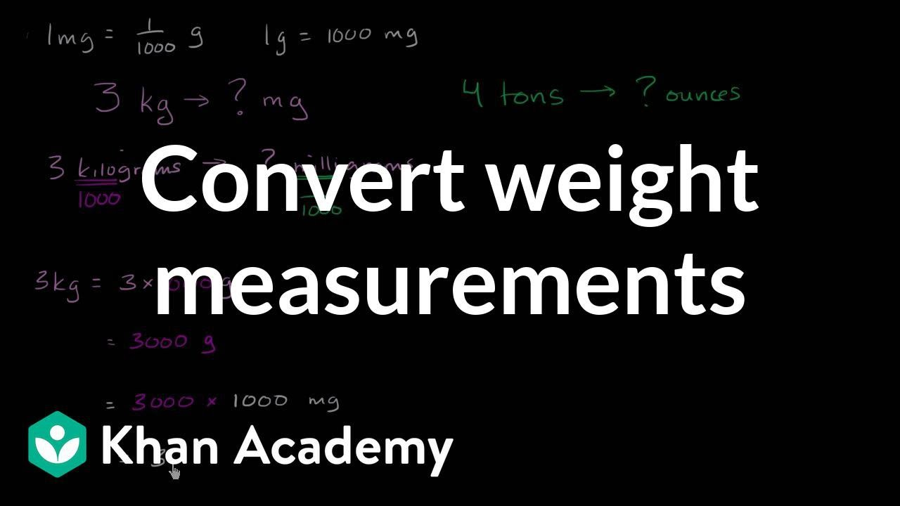 How to convert kilograms to milligrams and tons to ounces khan how to convert kilograms to milligrams and tons to ounces khan academy nvjuhfo Image collections