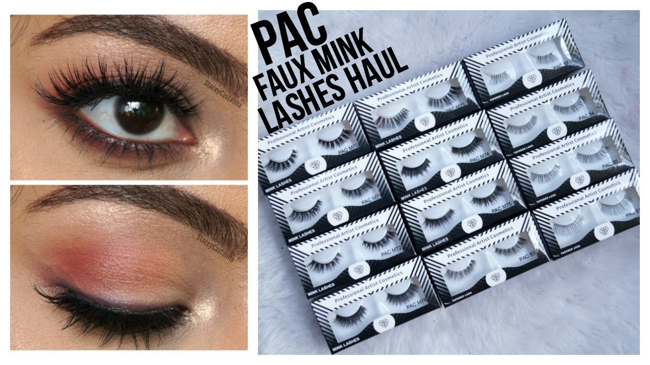 Pac Eyelashes Haul Try On Review Stacey Castanha Youtube