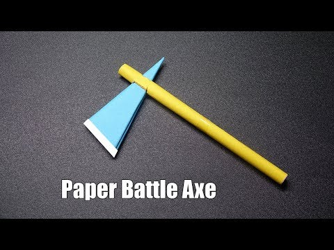 How to Make a Paper Battle Axe PART 2 - Easy Origami Tutorial - DIY Paper Crafts