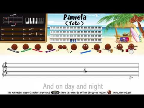 How to play : Pamela (Toto) - Tutorial / Karaoke / Chords / Score / Cover