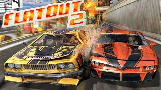 THE MOST DESTRUCTIVE RACING GAME EVER! - FlatOut 2 Crashes & Stunts