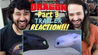 HOW TO TRAIN YOUR DRAGON 3: THE HIDDEN WORLD - Official TRAILER REACTION & REVIEW!!!