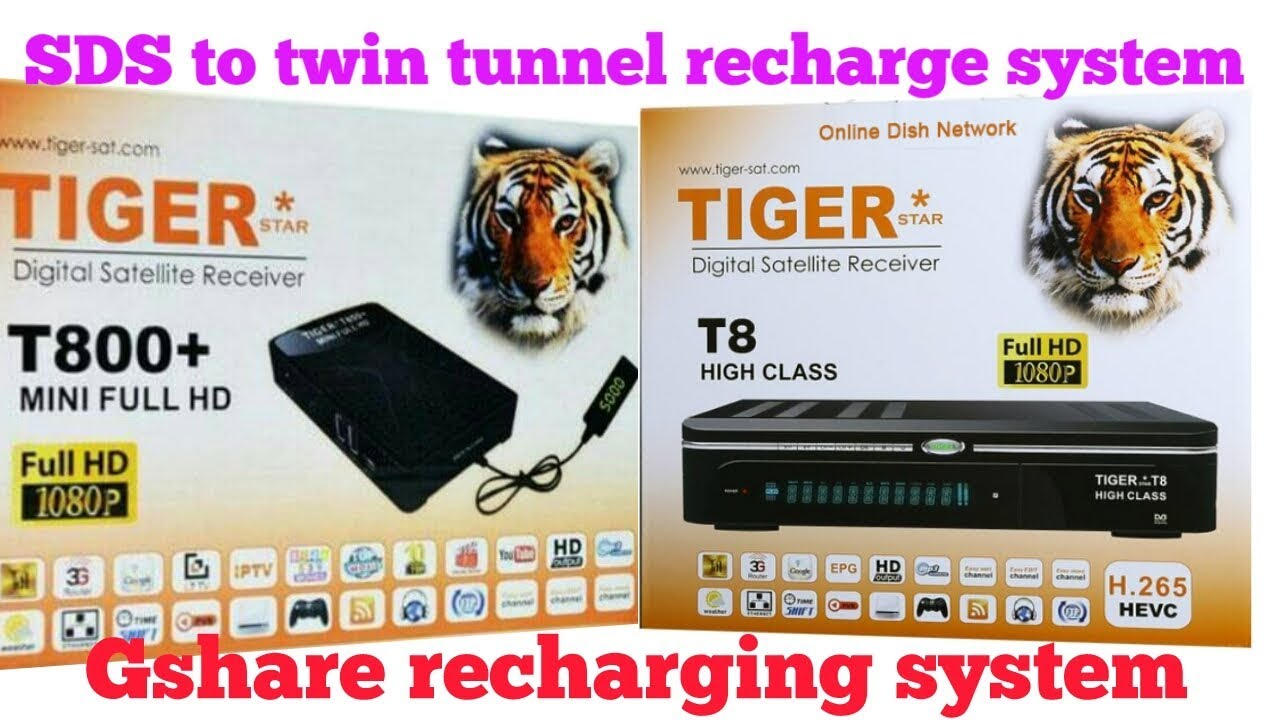 Tiger receiver Gshare server SDS server recharing system
