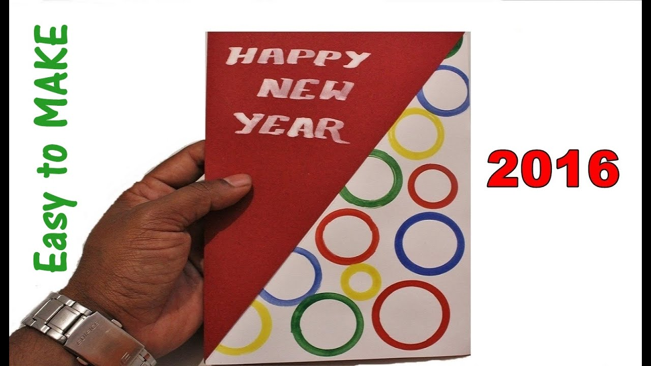 Diy how to make a new year greeting card 2018 christmas diy how to make a new year greeting card 2018 christmas greeting card youtube m4hsunfo
