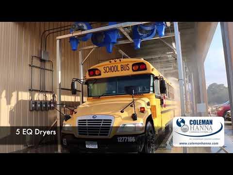 Super Water Wizard Truck Wash - Bus Barn - Dayton ISD