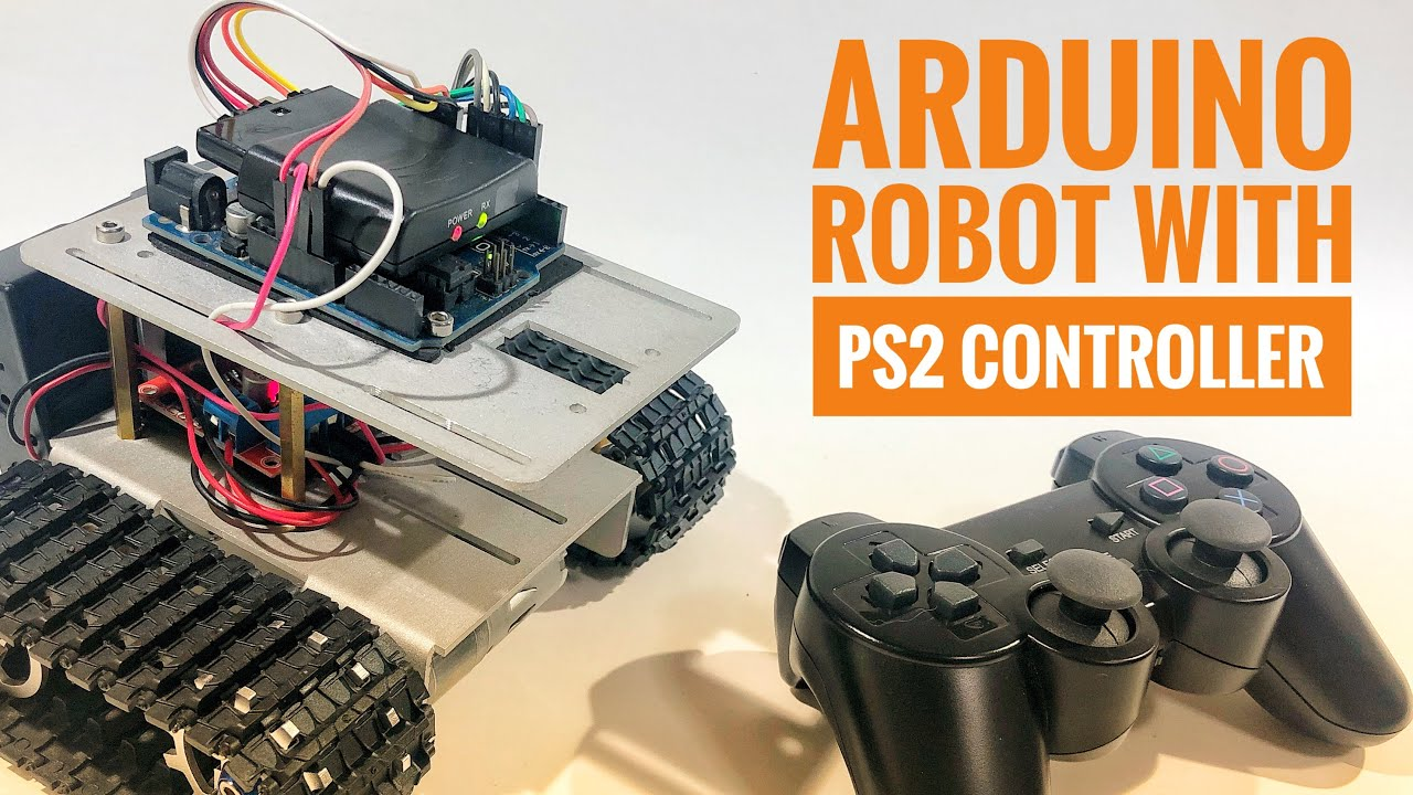 Arduino Robot With PS2 Controller (PlayStation 2 Joystick