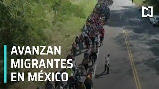 Avanza caravana migrante en territorio mexicano - En la Mira