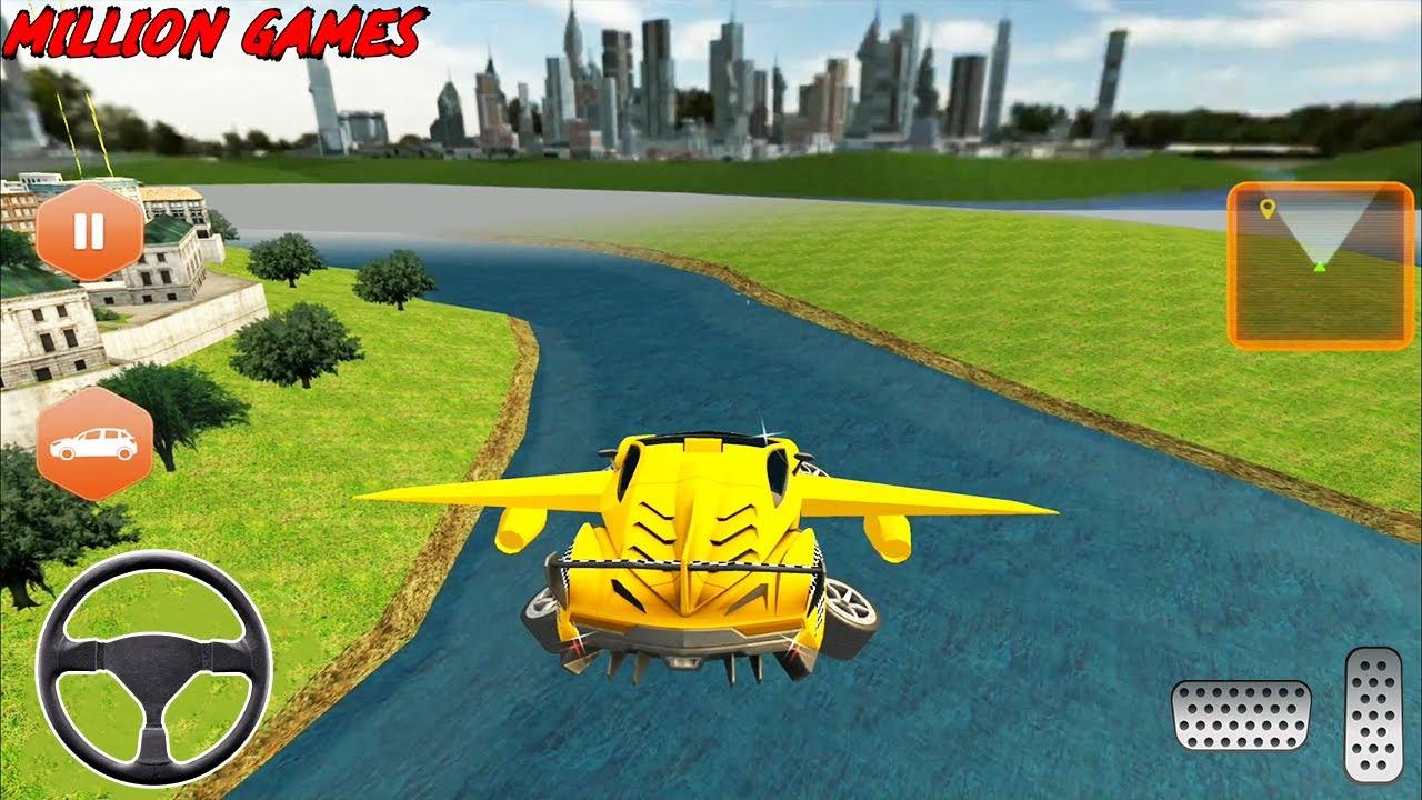 تحلق سيارة صفراء الكابينة تاكسي قيادة السيارات - ألعاب القيادة - العاب سيارات - العاب موبايل