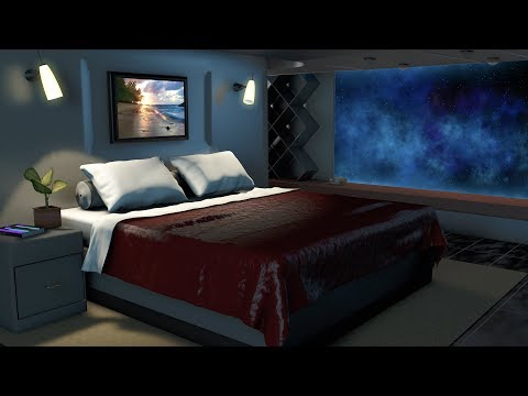 Spaceship Bedroom White Noise | Sleep, Study, Focus | 10 Hou
