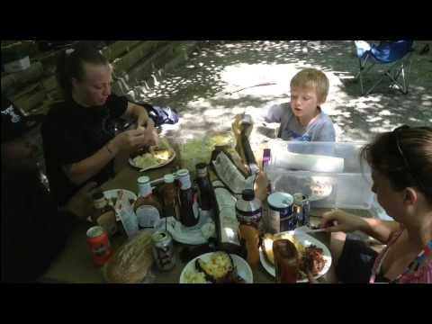 family camping on lake Hartwell 2013