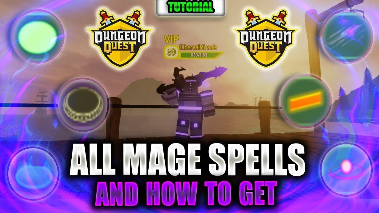 All Mage Spells And How To Get Them Roblox Dungeon Quest Youtube