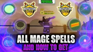 ALL Mage spells and HOW to GET THEM | Roblox | Dungeon Quest