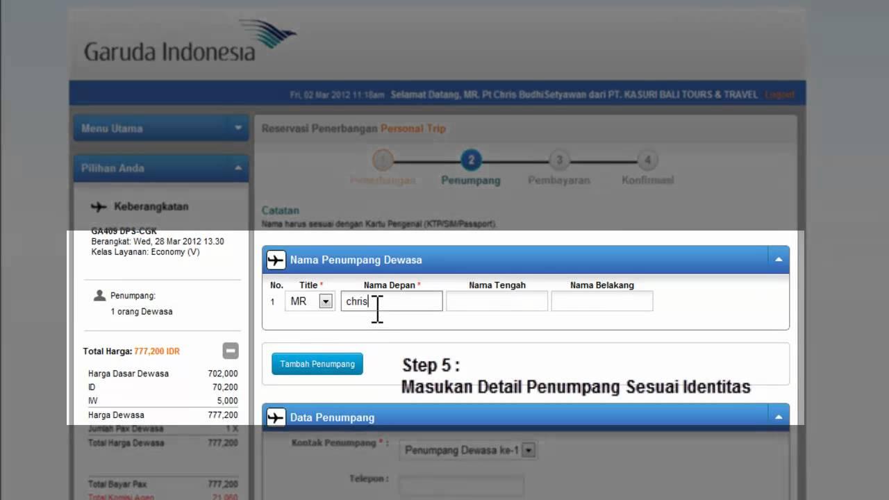 Cara Booking Garuda Sistem Gos Baru