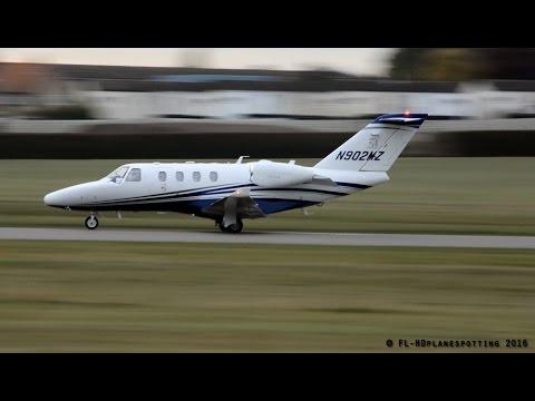 Beautiful Cessna 525 CitationJet N902MZ takeoff from Cambridge
