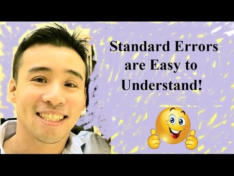 Simplest Explanation of the Standard Errors of Regression Coefficients - Statistics Help