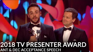 Ant and Dec react to winning the TV Presenter award