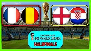 FIFA 18 WM - Prognose I HALBFINALE I Frankreich vs Belgien x England vs Kroatien Deutsch (HD)