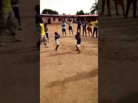 Video: Watch Two Boys In A Boxing Match In Abeokuta While Adults Cheer On