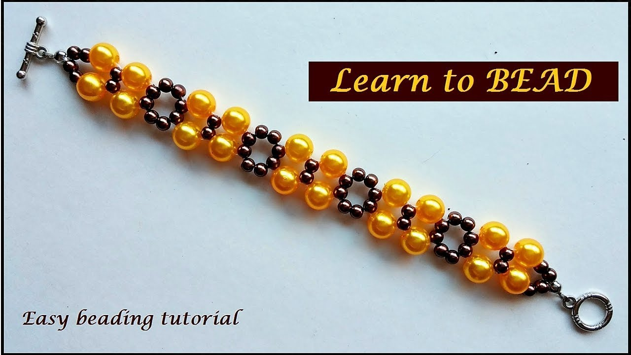 Learn Beading Bracelets How To Make A Beaded Bracelet In 10 Minutes Beads Easy Design