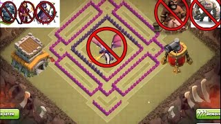 "CLASH OF CLANS - TOWN HALL 8 (TH 8) WAR BASE,""SPEED BUILD"", NEW DESIGN, ANTI 3 STARS BEST BASE"