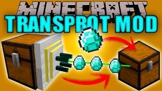 TRANSPROT MOD - Transporta ITEMS de un Cofre a otro Cofre!! - Minecraft mod 1.10.2 Review