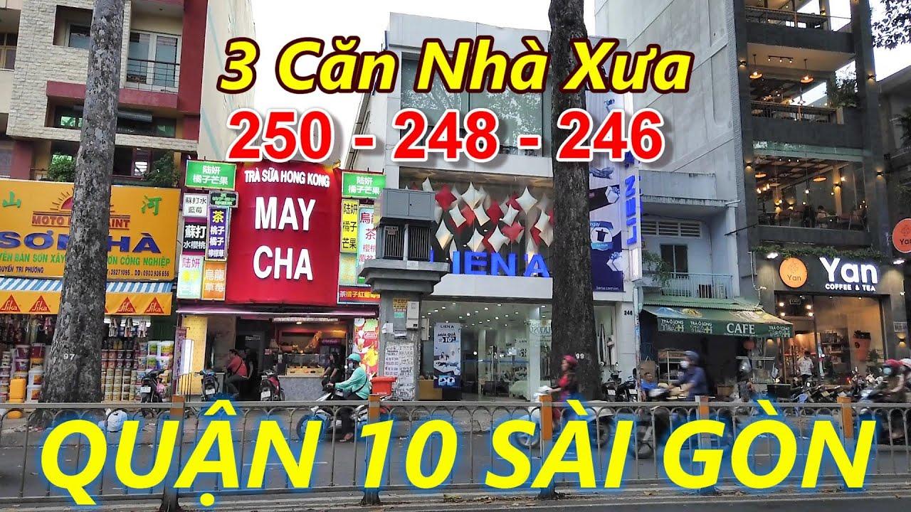 Xem lại BA CĂN NHÀ Đường Nguyễn Tri Phương và Trường TRẦN KHAI NGUYÊN Quận 10 Sài Gòn