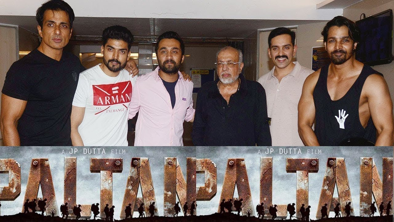 Image result for Paltan also features Gurmeet Choudhary, Sonu Sood, Siddhanth Kapoor and Luv Sinha.