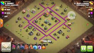 Most heroic attack ever in coc history.. akhil the legend prove that clan castle is nothing :P