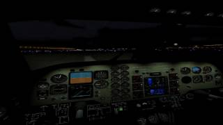 X-Plane 11 Night Approach Oculus RIft