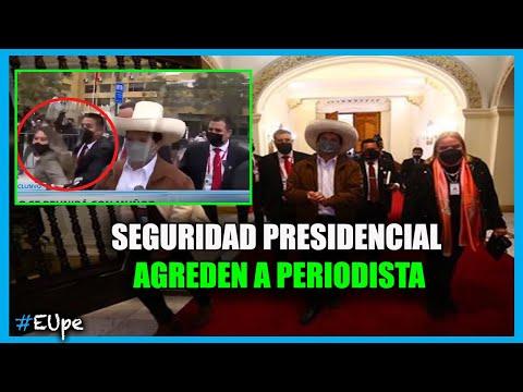 Seguridad Presidencial AGREDEN a PERIODISTA del Estado ante la mirada del Mandatario